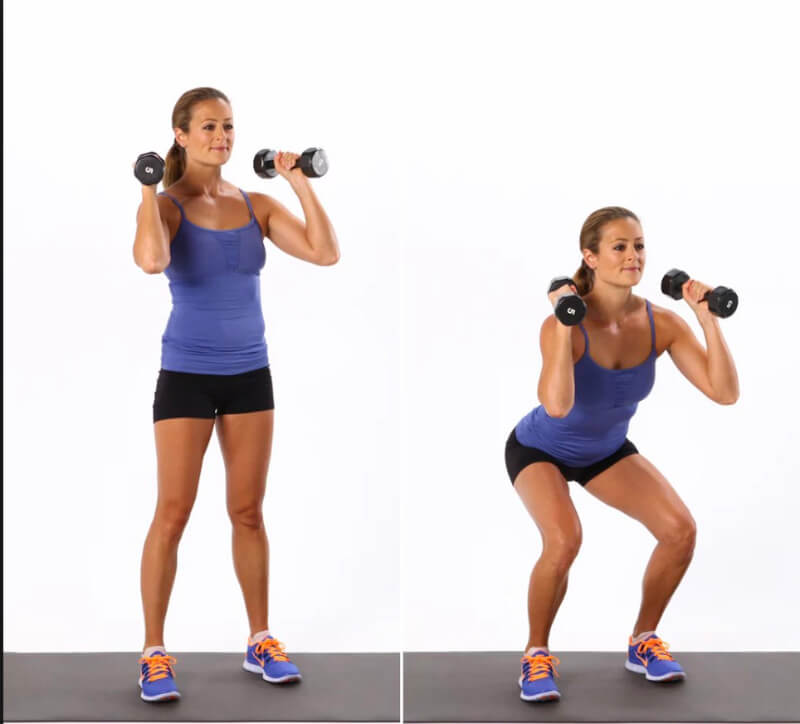 How To Squat With Dumbbells?