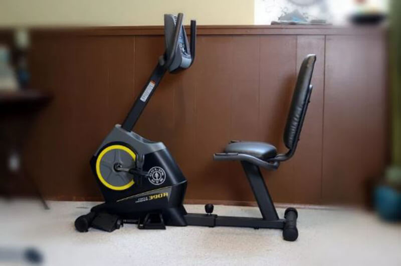 An affordable Gold's Gym exercise bike