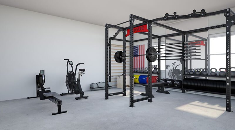 Rogue fitness exercise equipment