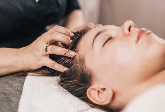 scalp massaging is one of the best remedy for hair loss